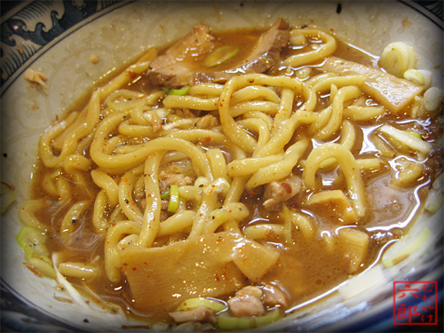 兎に角 油そば 割スープ投入.jpg